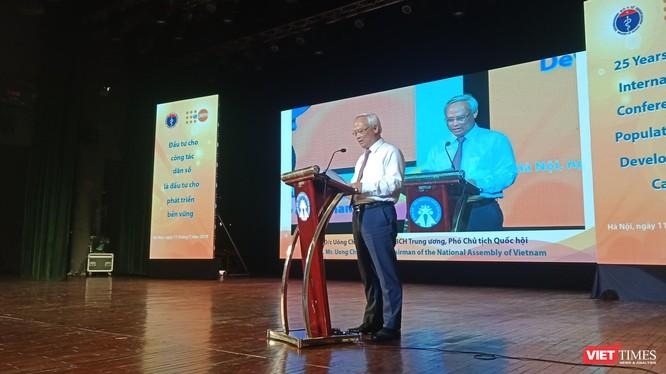 Ông Uông Chu Lưu, Ủy viên BCH Trung ương, Phó Chủ tịch Quốc hội phát biểu tại sự kiện.