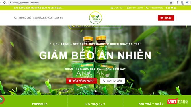 """Một website quảng cáo thực phẩm chức năng gây hiểu nhầm bị Cục An toàn thực phẩm """"tuýt còi""""."""