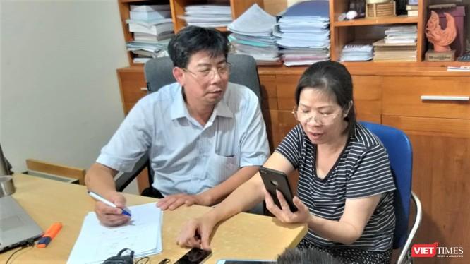 Bà Nguyễn Bích Quy và luật sư trong buổi trả lời phỏng vấn báo chí sáng 22/8.