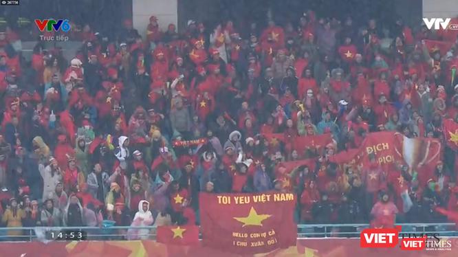 Bàn thắng tuyệt đẹp cua Quang Hải giúp giải tỏa tâm lý của U23 Việt Nam làm vỡ òa cảm xúc của người hâm mộ.