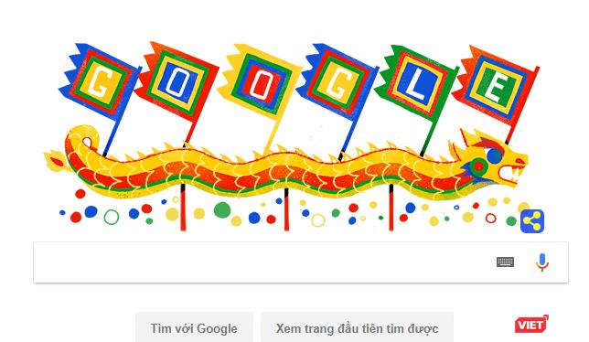 Hôm nay,cả thế giới sẽ ngắm thuyền rồng Việt Nam trước khi thực hiện thao tác tìm kiếm trên Google.