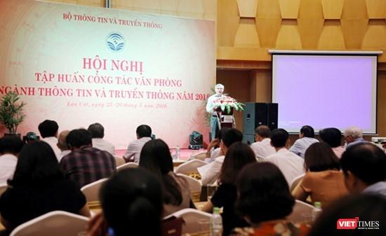 Thứ trưởng Nguyễn Minh Hồng phát biểu khai mạc hội nghị.