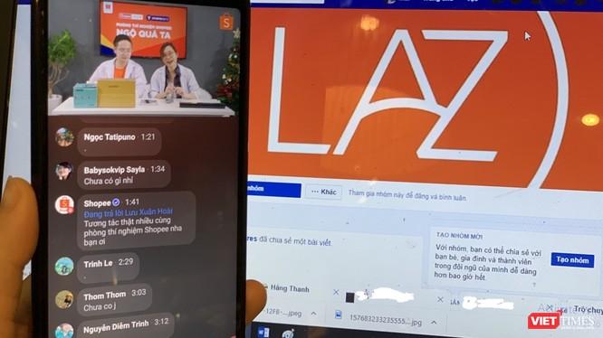 Hoạt động livestream trên Facebook và Youtube của các sàn thương mại điện tử nở rộ trong năm 2019.