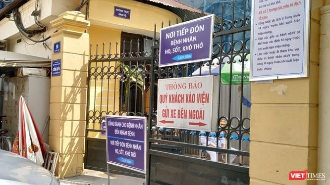 Một số bệnh viện ở Hà Nội đã tiến hành phân luồng bệnh nhân. Ảnh: Anh Lê