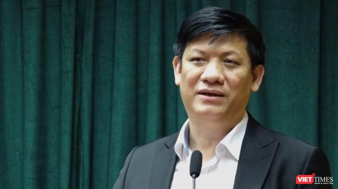 Thứ trưởng Bộ Y tế Nguyễn Thanh Long tại cuộc họp triển khai Tập huấn về việc ứng dụng công nghệ thông tin trong công tác phòng, chống dịch bệnh COVID-19.