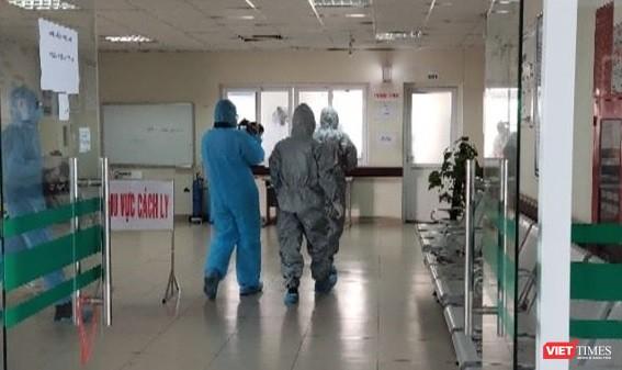 Khu cách ly ở khoa Virus - ký sinh trùng, Bệnh viện Bện Nhiệt đới Trung ương 2 (Đông Anh, Hà Nội). Ảnh: Minh Thúy