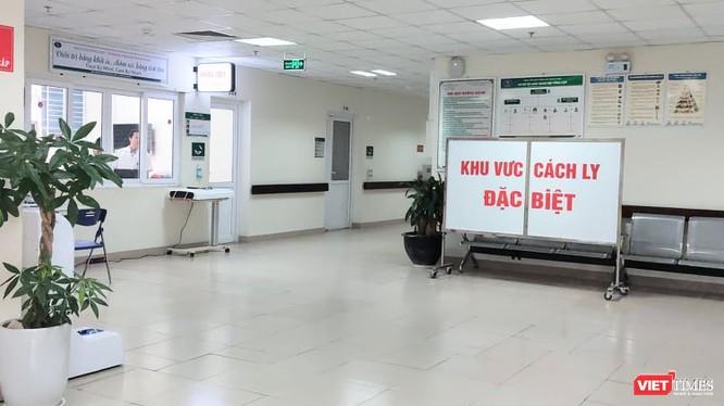 Khu vực cách ly đặc biệt tại Bệnh viện Bệnh Nhiệt đới Trung ương (Ảnh: Minh Thúy)