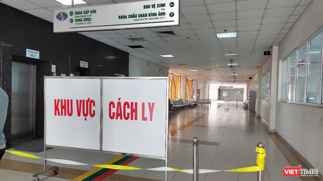 Khu vực cách ly tại Bệnh viện Bệnh Nhiệt đới Trung ương. Ảnh: Minh Thúy.