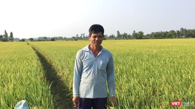 Một người nông dân trồng lúa ở An Giang kể về những ảnh hưởng trực tiếp của COVID-19 và suy thoái kinh tế tới gia đình ông. Ảnh: Nguyễn Đức Ninh.