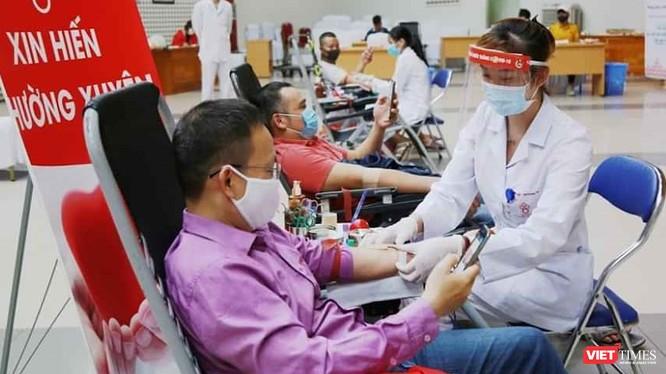 Không chỉ 45 người tại Viện Huyết học - Truyền máu TW, mà cả 44 cán bộ, nhân viên y tế tại 3 bệnh viện còn lại đều âm tính với COVID-19. Ảnh: Viện HH-TMTW