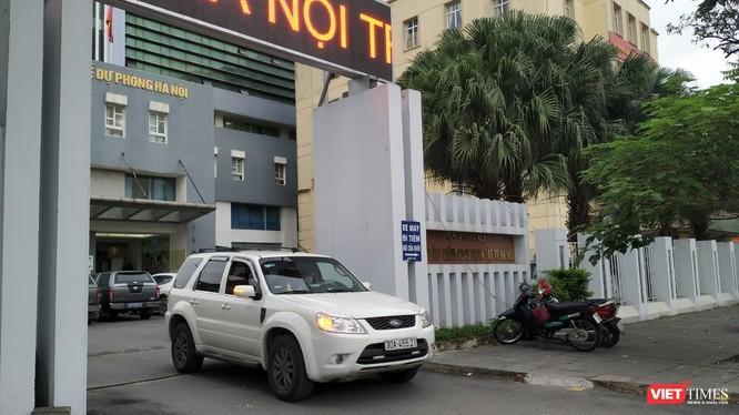 Nguồn tin tại CDC Hà Nội khẳng định, toàn bộ hoạt động của Trung tâm đang diễn ra bình thường. Ảnh chụp chiều 22/4 - Anh Lê.