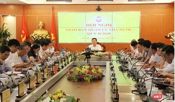 Bộ trưởng Nguyễn Mạnh Hùng chủ trì Hội nghị giao ban quản lý nhà nước quý II/2020