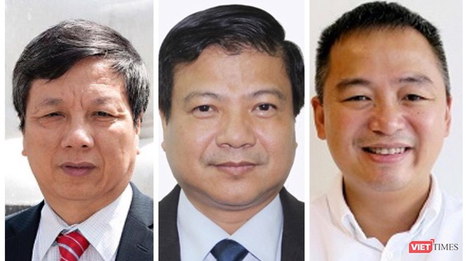GS.TS Nguyễn Gia Bình, GS.TS Nguyễn Văn Kính và PGS.TS Nguyễn Lân Hiếu.