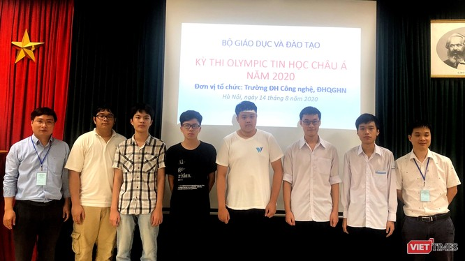 Đoàn học sinh tham gia Olympic Tin học châu Á - Thái Bình Dương 2020 của Việt Nam. Ảnh: Bộ GD&ĐT.