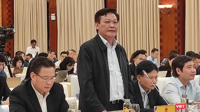 Thứ trưởng Bộ Nội vụ Nguyễn Duy Thăng tại buổi họp báo Chính phủ thường kỳ.