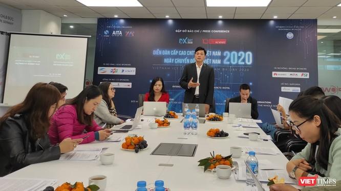 Cuộc họp báo do VINASA tổ chức trước sự kiện DXDAY Vietnam 2020.
