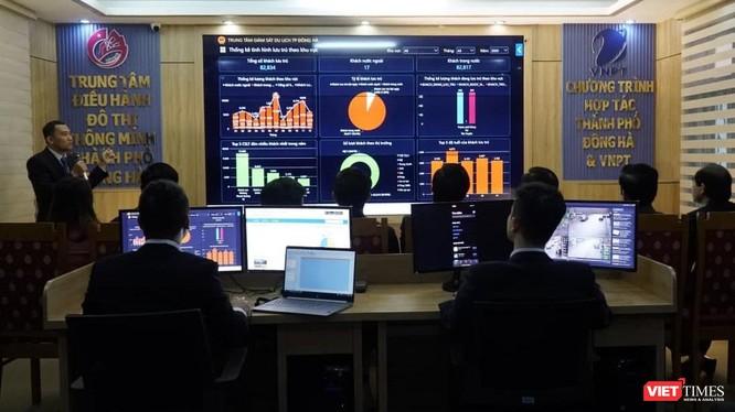 Trung tâm điều hành thông minh IOC thành phố Đông Hà.