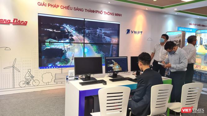 Khu vực vận hành Giải pháp Chiếu sáng thành phố thông minh do Rạng Đông và VNPT phối hợp thực hiện.