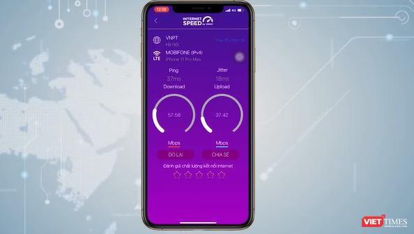 Ứng dụng i-Speed miễn phí dùng đo tốc độ truy cập internet Việt Nam.
