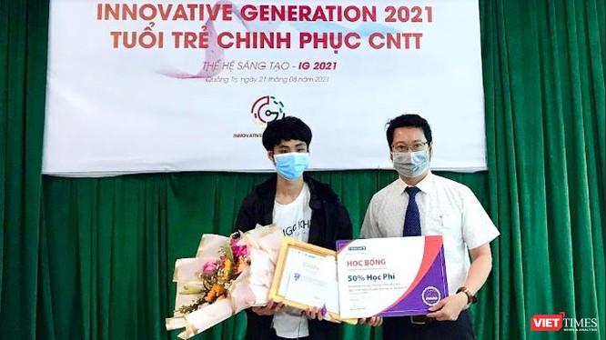 Nhóm LQD-DeepDR của THPT Chuyên Lê Quý Đôn (Quảng Trị) giành giải cao nhất tại cuộc thi Thế hệ sáng tạo 2021.