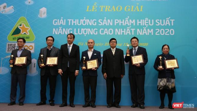 Các tổ chức nhận Giải thưởng hiệu suất năng lượng cao nhất năm 2020.