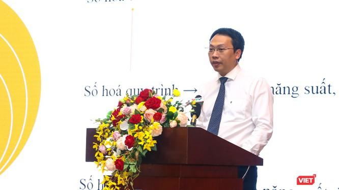 Cục trưởng Nguyễn Huy Dũng đặt hàng các doanh nghiệp công nghệ ưu tiên giải quyết những bài toán phát sinh từ chính nhu cầu của nhân dân. Ảnh: Minh Sơn.
