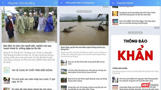 Mạng xã hội đóng vai trò kết nối thông tin trước tình hình mưa lũ phức tạp tại miền Trung.
