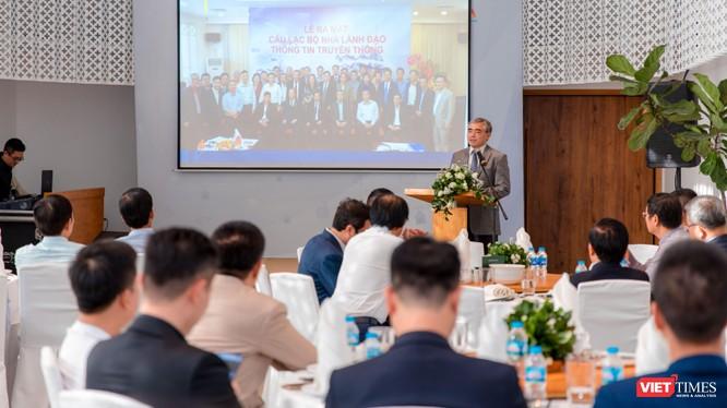 Ông Nguyễn Minh Hồng - Chủ tịch Hội Truyền thông số Việt Nam - phát biểu tại sự kiện.