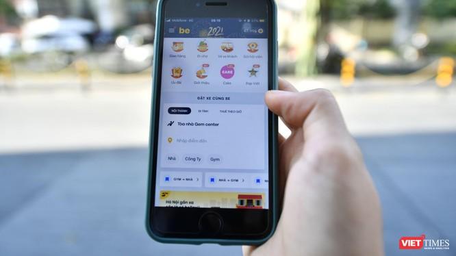 Ngân hàng số Cake được tích hợp hiển thị trên ứng dụng gọi xe Be.