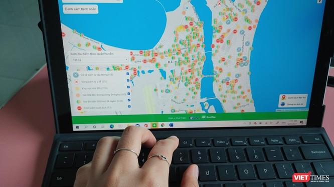 Bản đồ số giúp người dân theo dõi thông tin dịch tễ tại các địa phương.