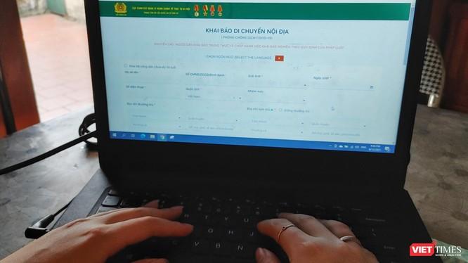 Khai báo y tế kết nối với cơ sở dữ liệu dân cư.