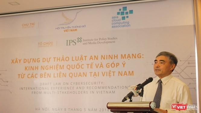 Hội TTS Việt Nam tổ chức hội thảo góp ý dự thảo Luật An ninh mạng.