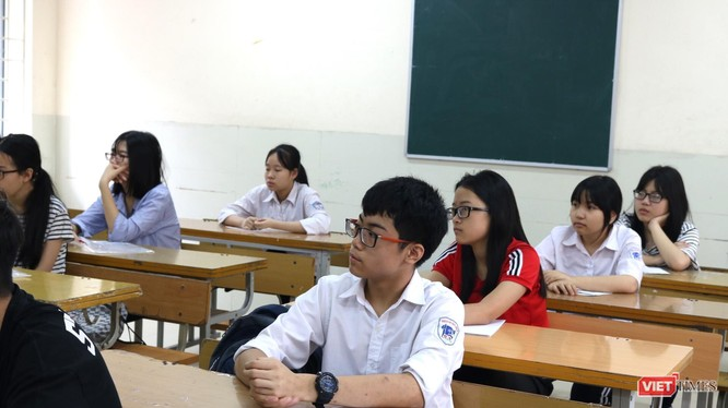 Học sinh thi vào lớp 10. Ảnh: Minh Thúy