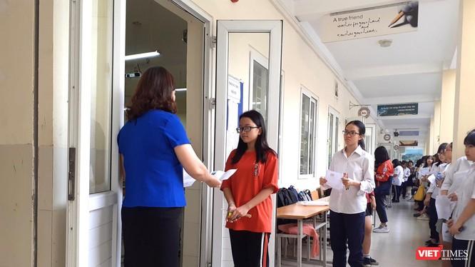 Thí sinh dự thi THPT quốc gia 2019. Ảnh: Minh Thúy