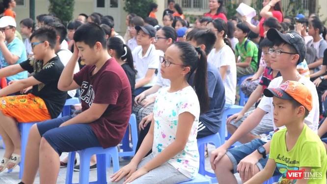 Học sinh tại trường tiểu học Dịch Vong B (Cầu Giấy). Ảnh: Minh Thúy