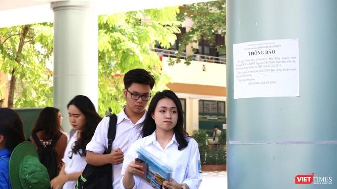 Thí sinh thi THPT quốc gia 2019. Ảnh: Minh Thúy