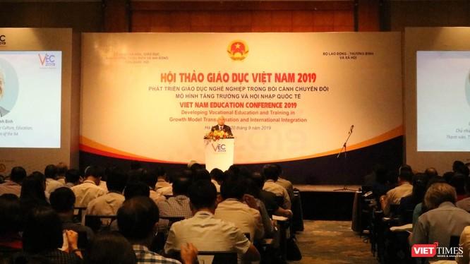 Hội thảo giáo dục Việt Nam 2019. Ảnh: Minh Thúy