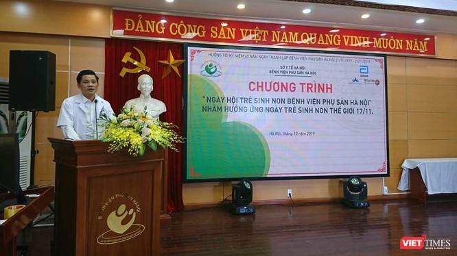 PGS. TS. Nguyễn Duy Ánh – Giám đốc Bệnh viện Phụ sản Hà Nội phát biểu khai mạc chương trình. Ảnh: Minh Thúy