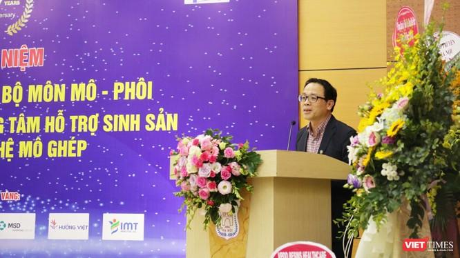 GS. TS. Tạ Thành Văn – Hiệu trưởng Trường Đại học Y Hà Nội. Ảnh: Minh Thúy