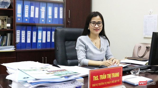 ThS. Trần Thị Trang – Phó Vụ trưởng Vụ Pháp chế (Bộ Y tế). Ảnh: Minh Thúy.