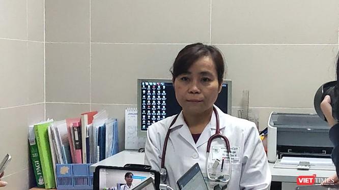 BS. Lại Thanh Hà – Trưởng Khoa Khám bệnh, Bệnh viện Thanh Nhàn. Ảnh: Minh Thúy