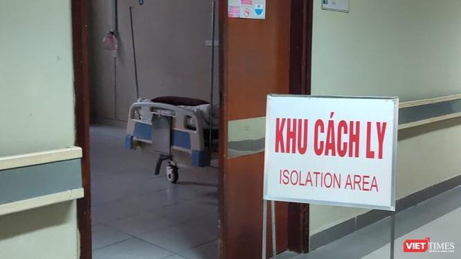 Khu vực cách ly tại bệnh viện. Ảnh: Minh Thúy