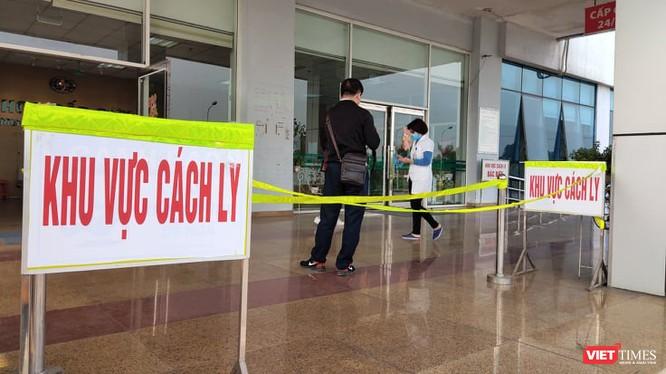 Khu vực cách ly tại Bệnh viện Bệnh nhiệt đới cơ sở 2. Ảnh: Minh Thúy