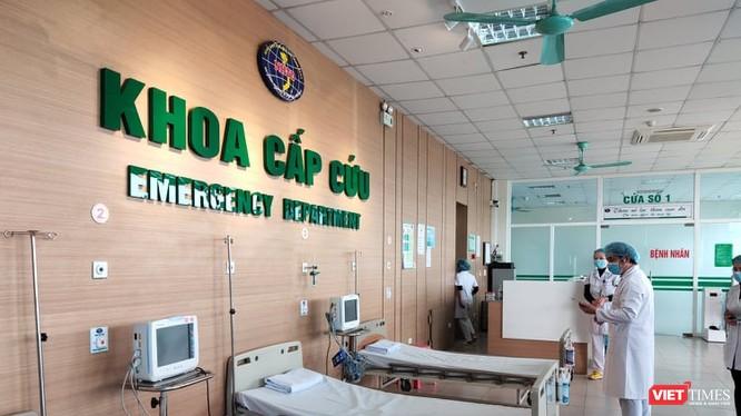 Khoa Cấp cứu, Bệnh viện Bệnh Nhiệt đới cơ sở 2. Ảnh: Minh Thúy