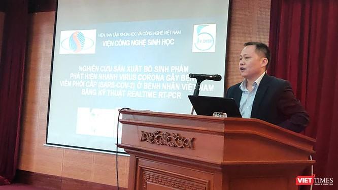 PGS.TS. Đồng Văn Quyền – Phó Viện trưởng Viện Công nghệ Sinh học. Ảnh: Minh Thúy