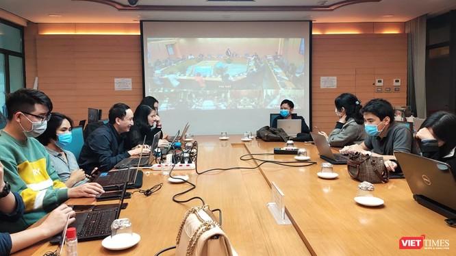Cuộc họp Ban Chỉ đạo phòng, chống dịch COVID-19 TP. Hà Nội chiều 20/3. Ảnh: Minh Thúy