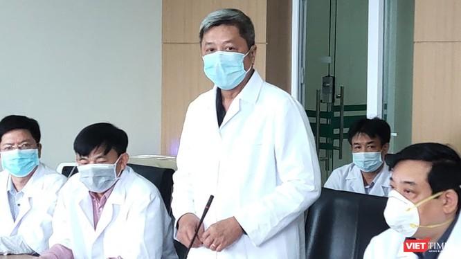 Thứ trưởng Bộ Y tế Nguyễn Trường Sơn phát biểu tại buổi làm việc.