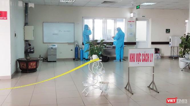 Khu vực cách ly bệnh nhân mắc COVID-19 (Ảnh: Minh Thúy)