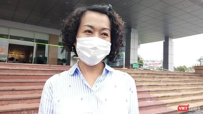 Nữ phóng viên đầu tiên nhiễm virus SARS-CoV-2. Ảnh: Minh Thúy