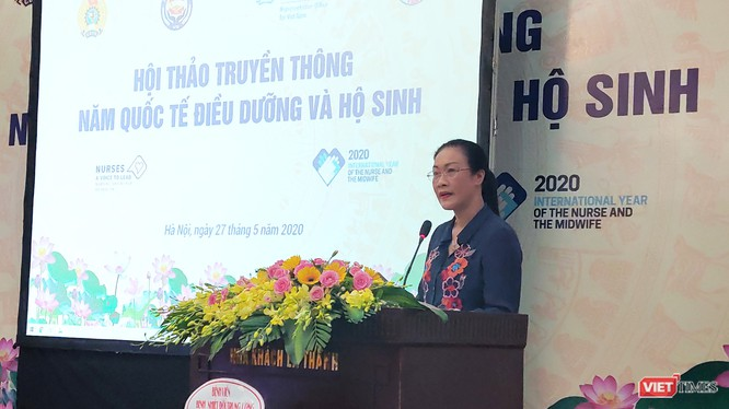 PGS. TS. Nguyễn Thanh Bình - Chủ tịch Công đoàn Y tế Việt Nam. Ảnh: Minh Thúy